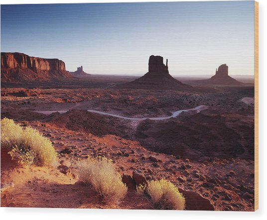 The Mittens Monument Valley, Sunrise Wood Print