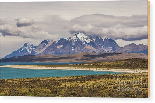The Mountains Of Torres Del Paine National Park, Chile Wood Print