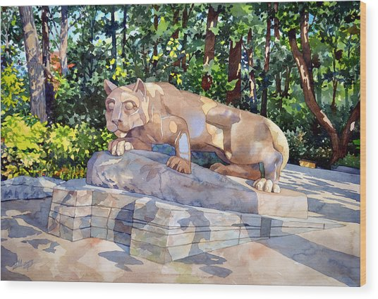 The Nittany Lion Wood Print