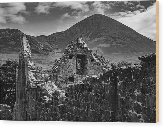 Murrisk Abbey At The Bottom Of Croagh Patrick Wood Print