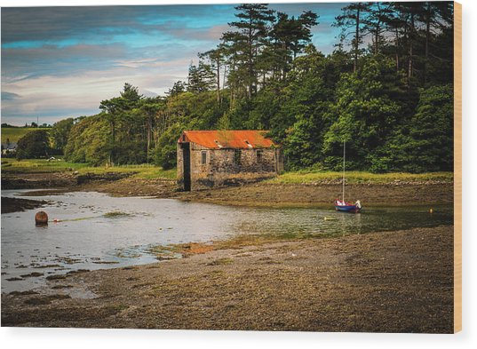 The Old Boat House Wood Print