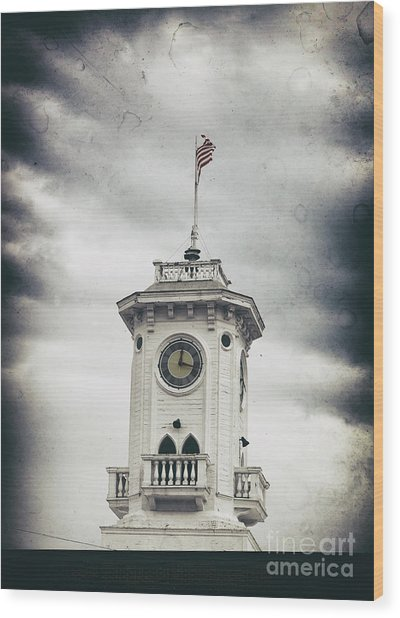 The Old Clocktower  Wood Print by Steven Digman