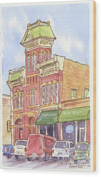 The Old Fire House Wood Print