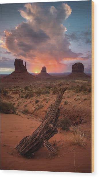 The Original Old West / Monument Valley, Arizona  Wood Print