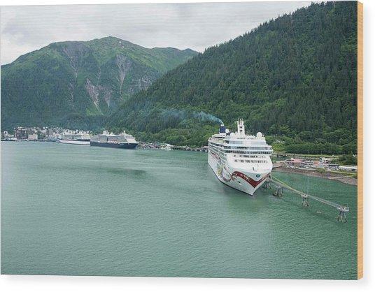 The Parking Lot - Juneau Alaska Wood Print