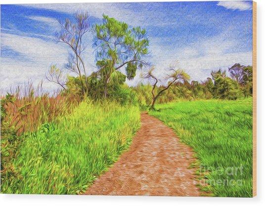 The Path That Lies Ahead II Wood Print