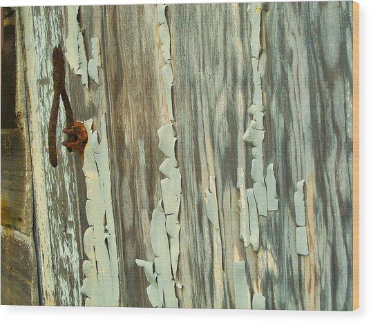 The Peeling Wall Wood Print