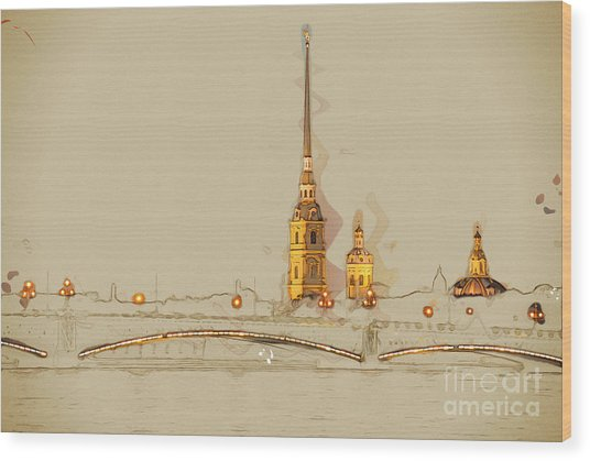 The Peter And Paul Fortress, Saint Wood Print