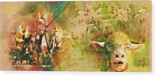 The Quijote Dream Wood Print