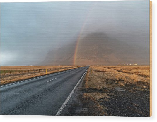 The Rainbow Road Wood Print