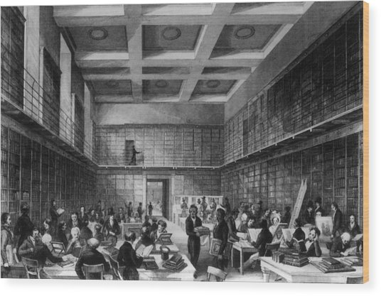 The Reading Room Wood Print by Hulton Archive