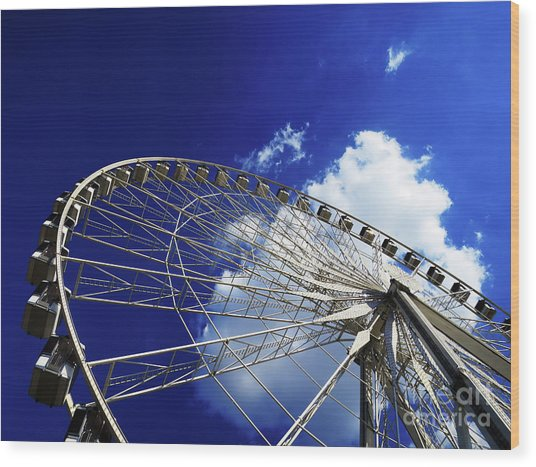 The Ride To Acrophobia Wood Print