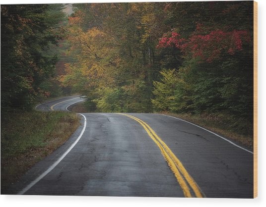 The Road To Friends Lake Wood Print