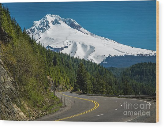 The Road To Mt. Hood Wood Print