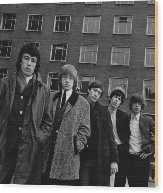 The Rolling Stones Wood Print by Evening Standard