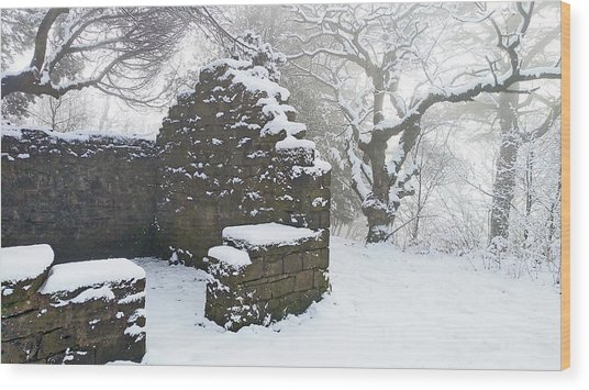 The Ruined Bothy Wood Print