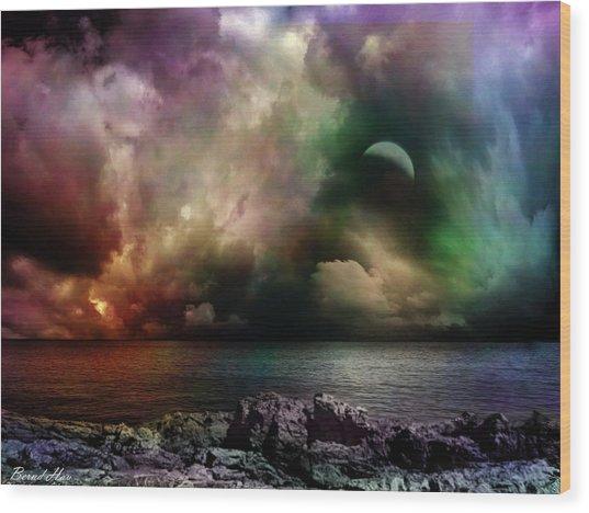 The Sacred Storm Wood Print