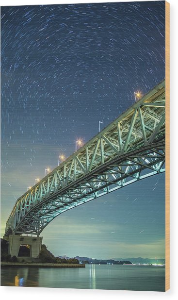 The Seto Ohashi Bridge Wood Print