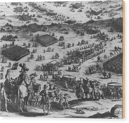 The Siege Of Breda Wood Print by Fotosearch
