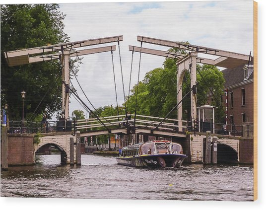 The Skinny Bridge Amsterdam Wood Print