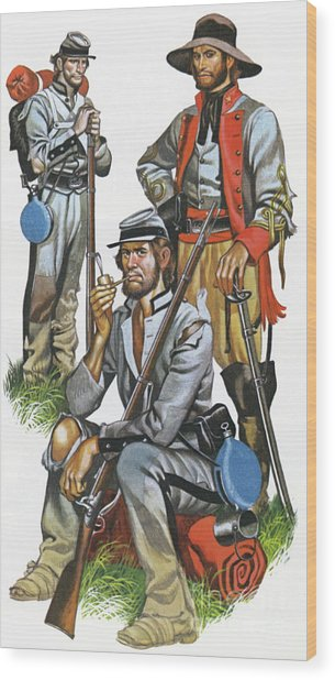 The Southern Army In The American Civil War Wood Print