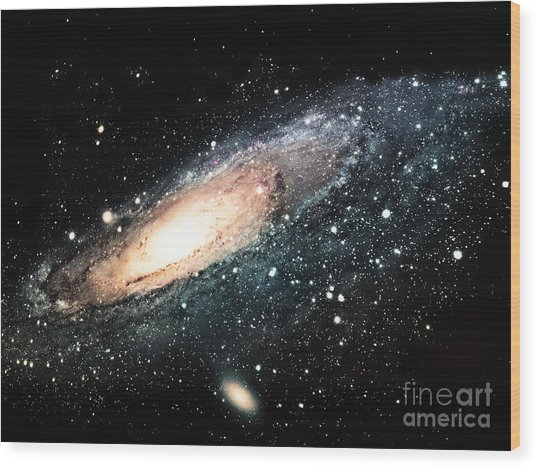 The Spiral Galaxy Wood Print