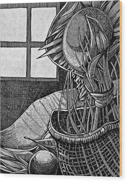 The Splendor Of A Brief Moment In The Window Wood Print