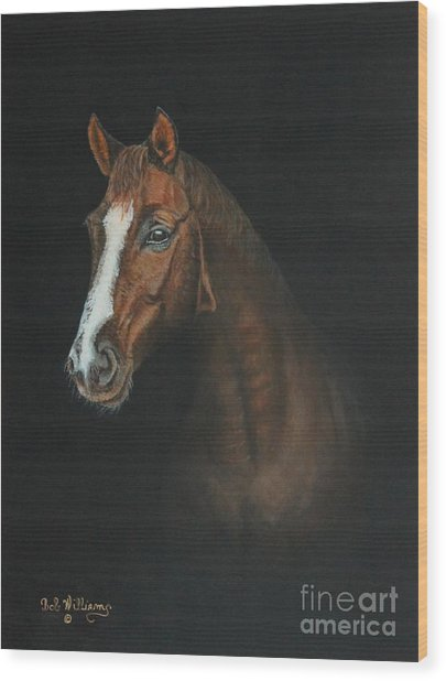 The Stallion Wood Print