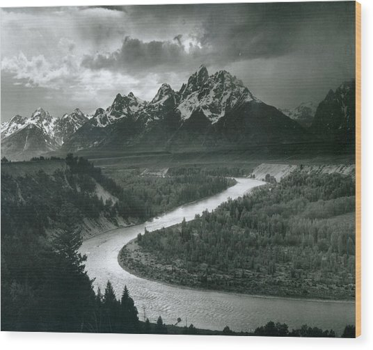 The Tetons - Snake River Wood Print