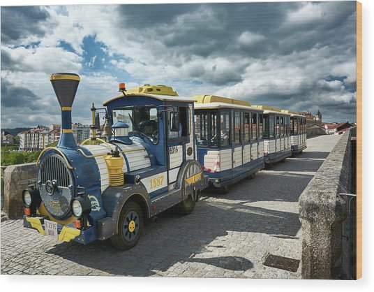 The Touristic Train Of Ourense Wood Print