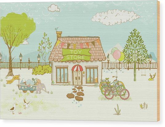The Toy Store Wood Print