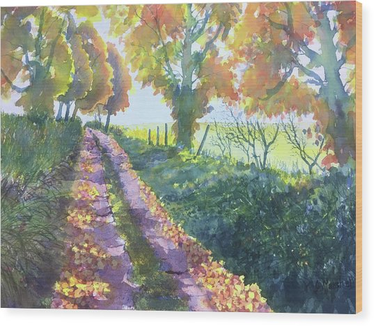 The Tunnel In Autumn Wood Print