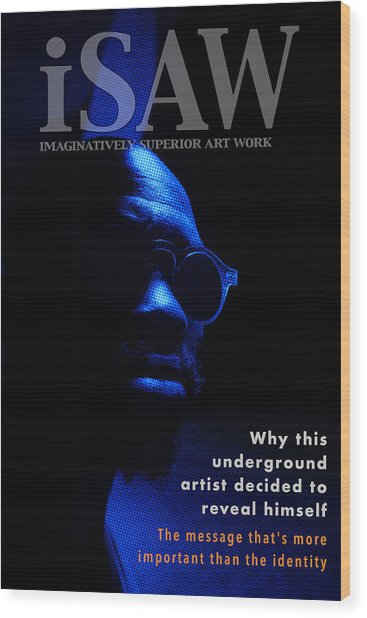 Wood Print featuring the digital art The Underground Artist by ISAW Company
