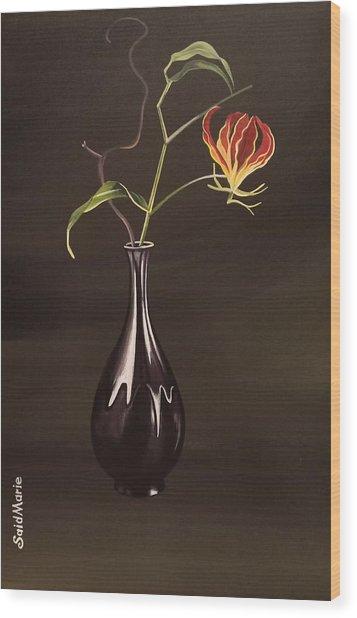 The Vase Wood Print