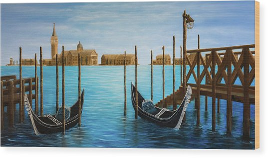 The Venetian Phoenix Wood Print