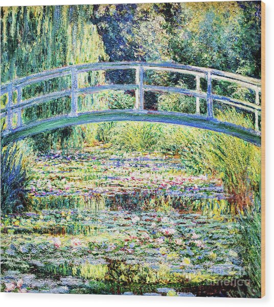 The Water Lily Pond By Monet Wood Print