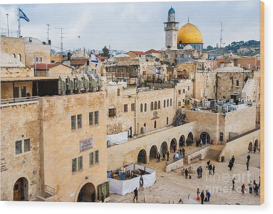 The Western Wall,temple Mount Wood Print