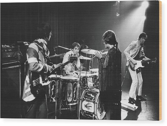 The Who At The Fillmore East Wood Print by Fred W. McDarrah