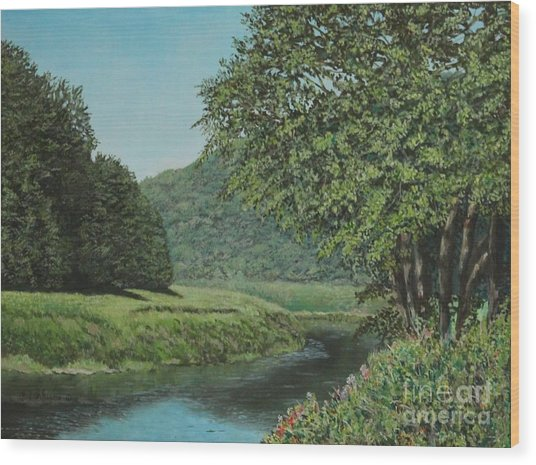 The Wye River Of Wales Wood Print
