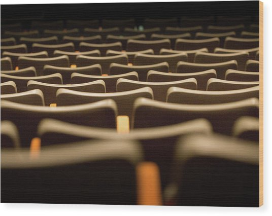 Theater Seats Wood Print