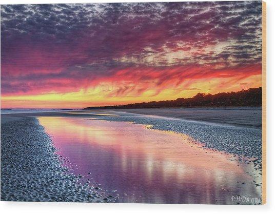 Thirteen Minutes After Sunset Wood Print