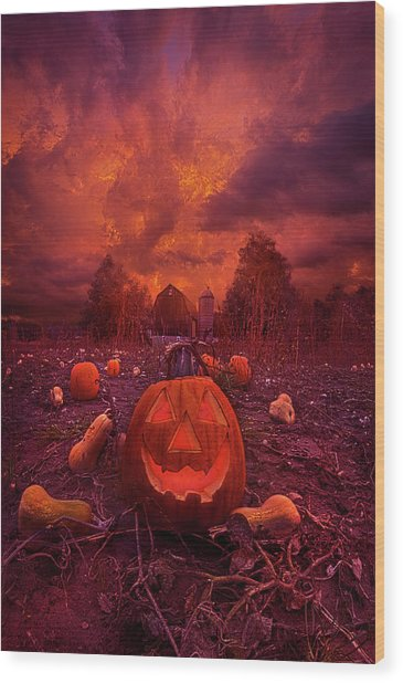 Wood Print featuring the photograph This Is Halloween by Phil Koch