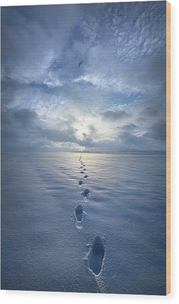 Wood Print featuring the photograph This Is When I Carried You by Phil Koch
