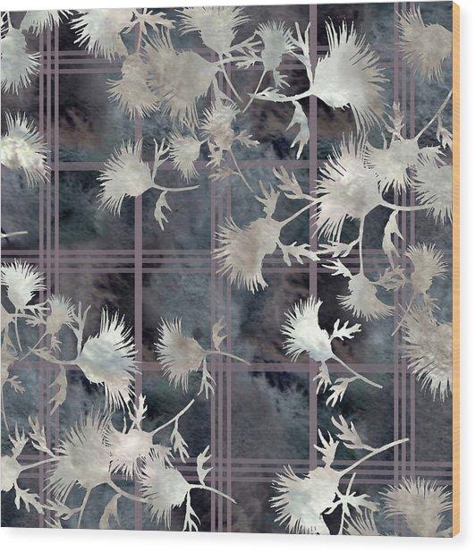 Thistle Plaid  Wood Print