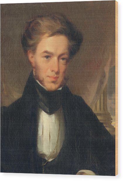 Portrait Of Thomas Ustick Walter, 1835 Wood Print