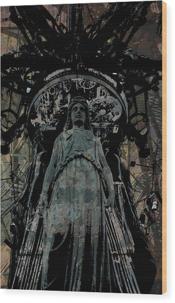 Three Caryatids Wood Print