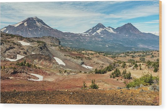 Wood Print featuring the photograph Three Sisters From Tam Macarthur Rim by Stuart Gordon