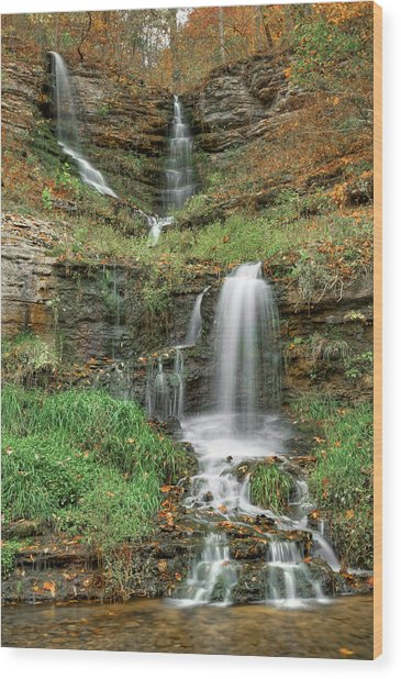 Thunder Falls - Dogwood Canyon Nature Park - Missouri Wood Print
