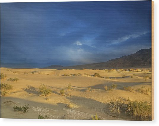Thunder Over The Desert Wood Print