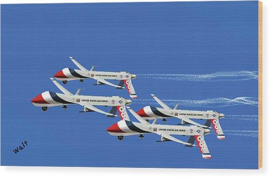 Thunderbird Drones Wood Print